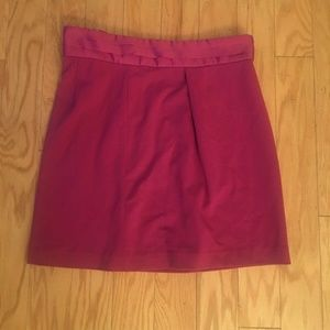 Banana Republic Solid Pink Peplum Pencil Skirt